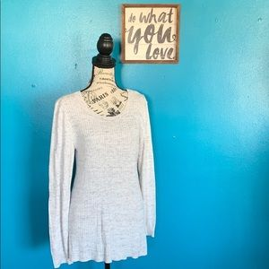 Gap Factory Grey and ivory sweater